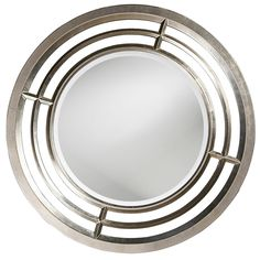 Howard Elliott Colby 41 x 41 Silver Lead Wall Mirror | HE60114 $299.90