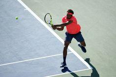 Tsonga vs. Sock September 4, 2016 - Jo-Wilfried Tsonga in action against Jack Sock during the 2016 US Open at the USTA Billie Jean King National Tennis Center in Flushing, NY.