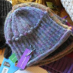 Hat Scottish Hand Knitted 'Heather' Mauve Blue by ShooglyBeads, £25.00