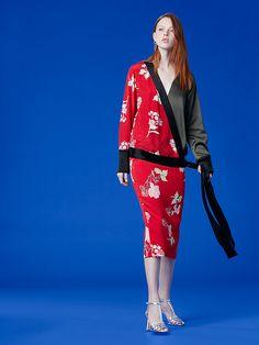 f191aadd056 Diane von Furstenberg Long-Sleeve Cross Over Top Wrap Style