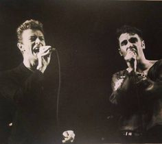 onlydavidbowie... - mermen-of-the-lea: David Bowie & Morrissey