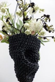 Skull Flower Planter, Von Sono http://www.vonsono.de/collections/objects/products/glass-vase-container-s