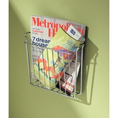 InterDesign Classico Wall Mount Newspaper and Magazine Holder Rack Bathroom Organizer Chrome * You could locate out more information at the web link of the image. (This is an affiliate link). Porte Magazine Mural, Magazine Rack Wall, Magazine Holders, Range Magazine, Metal Magazine, Bookcase Organization, Bathroom Organisation, Blanket Rack, Book Holders