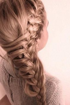 An unusual braided hairstyle from top to bottom! Braided Wedding Hairstyles   Confetti Daydreams ♥  ♥