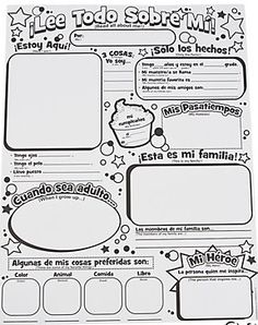 Instant Personal Poster Sets: ¡Lee Todo Sobre Mí! Poster