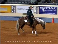 Wimpys Show Stopper, With Shawn Flarida. Watch this video and see what a reining horse is all about