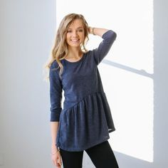 Belen Sweater Top in Charcoal