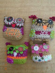 EYES...Crochet Owls by slim114, via Flickr