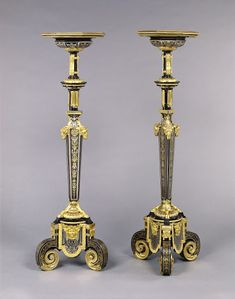 Pair of Gueridons Attributed to André-Charles Boulleabout 1680
