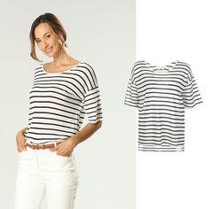 product.picture.alt Online Shops, Models, Tops, Shirts, Women, Fashion, Stripes, Templates, Moda