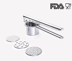 Potato Ricer and Masher ALISKID Mashed Potato Masher Ricer Potato Masher Potato Press Best Potato Masher Stainless Steel Noodle Maker with 3 Large Interchangeable Discs Hair Cutting Shears, Noodle Maker, Vegetable Chopper, Mandolin Slicer, Potato Mashers, Bbq Cover, Cheese Grater, Gas Bbq