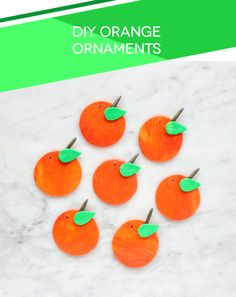 DIY Orange Ornaments by Lines Across for The Holiday Collective