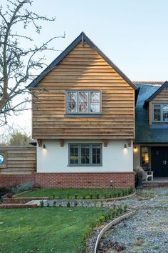 House Ideas - Building a new house. Building our dream home. Beautiful timber framed home, designed and built by Potton Self Build Specialists. House Cladding, Timber Cladding, Building A New Home, House Building, Build House, House Extension Design, House Design, Oak Frame House, Rustic Home Design