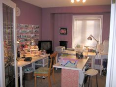 Pink & grey studio ~ limefreckle.blogspot