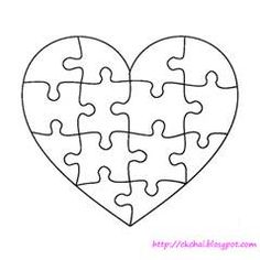 gallery for u003e heart puzzle pieces template silhouette pinterest rh pinterest com heart puzzle template printable heart jigsaw puzzle template