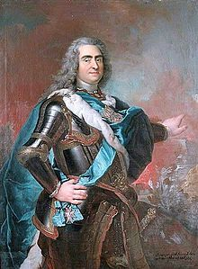 Augustus II the Strong (1670 - 1733). King of Poland from 1697 until 1706. He married Christiane Eberhardine of Brandenburg-Bayreuth and had six children.