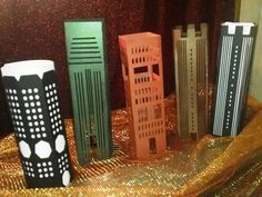 DIY Build a city skyscrapers set number 2 set of by hilemanhouse, $9.95
