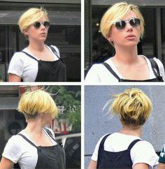 Scarlett Johansson latest cut  OMG Makes me want to chop my hair off again