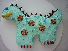 dinosaur cake - mon petit popet