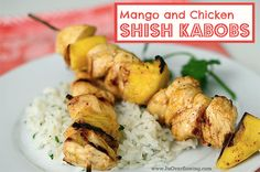 Nothing says Summer like Shish Kabob Chicken Marinade Recipe {Chicken and Mangoes} on the Grill! It's one of those meals that are simple . Chicken Marinade Recipes, Chicken Marinades, Grilling Recipes, Recipe Chicken, Kabob Recipes, Kabob Marinade, Recipies, Healthy Food Choices, Healthy Recipes