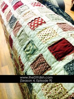 How to make an easy quilt in one night ~ easy!