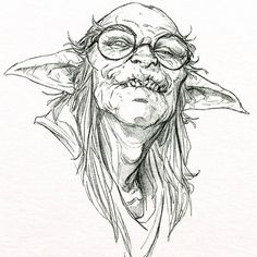 Smart Goblin & Cloudette  Sketches  #goblin #finalfantasy #cloud #ff7 Monster Sketch, Monster Art, Art Sketches, Art Drawings, Drawing Hair Tutorial, Goblin Art, Monochromatic Art, Scary Art, Desenho Tattoo