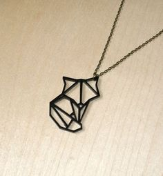 origami animal fox pendant necklace by ( q u i e t l y c r e a t i v e ) | notonthehighstreet.com