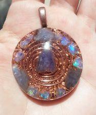 Orgone Pendant-Tanzanite-Welo Opal-Psychic Ability & Protection-Healing Orgonite Welo Opal, Psychic Abilities, Washer Necklace, Healing, Pendants, Ebay, Jewelry, Jewellery Making, Jewlery