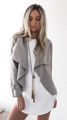 grey shade jacket to wear when its not that cold