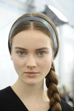 Love the braid and hair ribbon