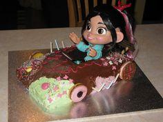Vanellope von Schweetz from Wreck it Ralph cake