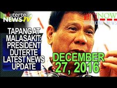 PRESIDENT DUTERTE LATEST NEWS TODAY (DECEMBER 27, 2016) | CNN PHILIPPINES - WATCH VIDEO HERE -> http://dutertenewstoday.com/president-duterte-latest-news-today-december-27-2016-cnn-philippines/   Welcome to my channel.  You are in a 'one-stop-news-channel'! NEWS TV is a place where you can find news updates and latest trends in the Philippines. We grab the best stuffs and reupload here.  What's new in politics, entertainment, culture, lifestyle, and Duterte –