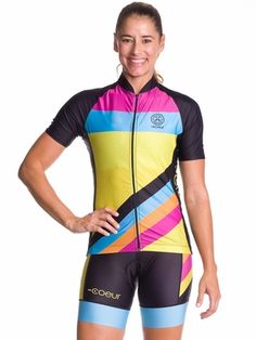 Women s Island Vibe Cycling Jersey - Coeur Sports Cycling Shorts b692500be