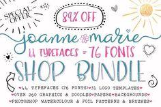 Font Bundle - Shop Bundle by Joanne Marie on @creativemarket