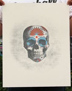 Day of the Dead 3 color screenprint