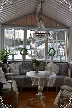 Sun Room in Winter.