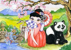Princess painting print nursery decor girls room by Wishsongdesign, $12.00