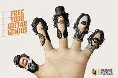 EMURP Music School: Hand             Free your guitar genius