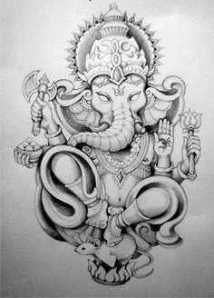 Best Ganesha tattoos tattoo designs ideas männer männer ideen old school quotes sketches Ganesh Tattoo, Hindu Tattoos, Symbolic Tattoos, Unique Tattoos, Ganesha Drawing, Ganesha Painting, Ganesha Art, Yoga Tattoos, Arm Tattoos