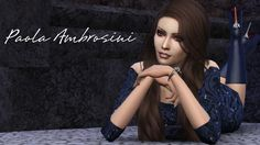 Sims 4 CC's - The Best: Paola Ambrosini by The Reds Studio