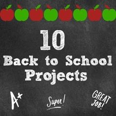 10 Back to School Projects from Here Comes the Sun