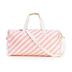 Ban.do Getaway Duffle Bag - Ticket Pink Stripe | The TomKat Studio Shop