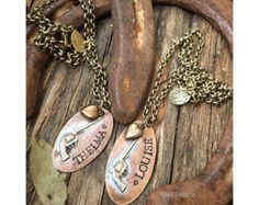 Thelma and Louise hand stamped necklace set - Edit Listing - Etsy