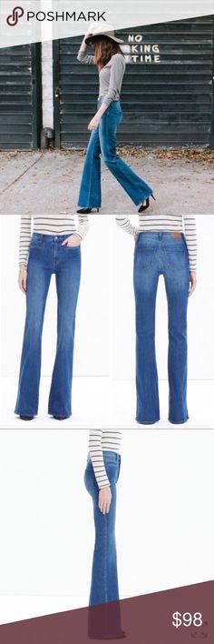 6d389703feb0 Madewell  Flea Market  Flare Jeans (Maribel) Gently faded details add lived-