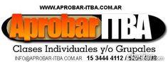 Profesor Particular Grupo de estudio ITBA http://balvanera.clasiar.com/profesor-particular-grupo-de-estudio-itba-id-251926