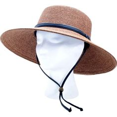 6f88b31e50e Sloggers Women s Wide Brim Braided Sun Hat with Wind Lanyard - Dark Brown -  Rated UPF Maximum Sun Protection Rated UPF Maximum Sun Protection Includes  high ...