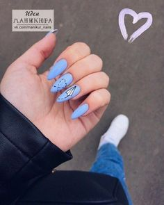 25 Awesome Nail Arts for Creative Person is part of Awesome Nail Arts For Creative Person With Fashion - Find the perfect nail art design for your next manicure project! Get inspired with these beautiful, funny, cute and stylish nails ideas Aycrlic Nails, Blue Nails, Nail Manicure, Diy Nails, Nail Art Blue, Fall Nails, Cool Nail Art, Summer Nails, Stylish Nails