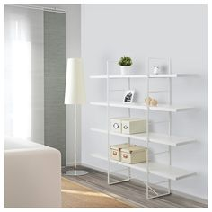 IKEA Quality furniture at affordable prices. Be inspired and find the perfect products to furnish your life. White Bookshelves, White Shelves, Ikea Shelves, Floating Shelves, Kallax, Ikea Stand, Standing Shelves, Shelving Design, Ikea Us
