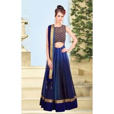 Bollywood Replica - Party Wear Net Blue Lehenga Choli - 60003