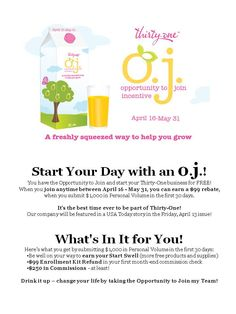 Thirty-One....an amazing opportunity -- best $99 investment I've ever made!! www.mythirtyone.com/jencollucci